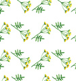 Floral watercolor seamless pattern vector image