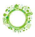Ecology concepts design on white background vector image