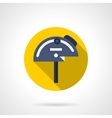 Professional protractor flat round icon vector image