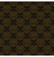 Vintage linear damask pattern with gold lines vector image