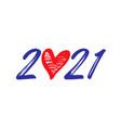 2021 brush heart vector image