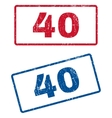 40 Rubber Stamps vector image vector image