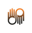 abstract hand logo icon concept vector image vector image