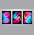 abstract trendy gradient shapes background vector image vector image