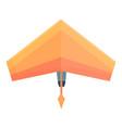 activity hang glider icon cartoon style vector image vector image