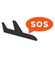 Airplane Sos Message Icon
