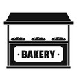 bakery icon simple style vector image