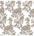 Baroque floral damask pattern vector image vector image