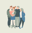 big happy family portrait together young parents vector image vector image