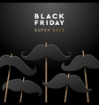 black friday super sale web banner vector image