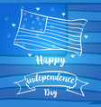 blue background card for independence day vector image vector image