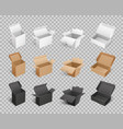boxes packages made of paper and carton vector image