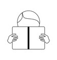 boy reading book icon vector image