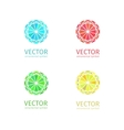 Business geometric logo template set vector image vector image