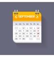 Calendar September Flat Design vector image