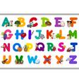 cartoon alphabet for children vector image vector image