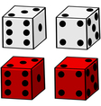 Cartoon dice vector image