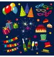 celebration happy birthday party carnival vector image vector image