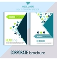 Clean Brochure design annual report cover vector image vector image