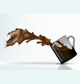 coffee splash from falling glass vector image vector image