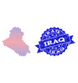 collage of gradiented dotted map of iraq and vector image vector image