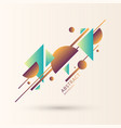 composition with dynamic and geometric shapes vector image vector image