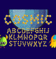 constellation alphabet set vector image