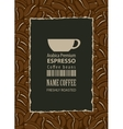 design labels for coffee beans vector image vector image