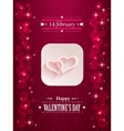 Design with hearts and flares for valentine s day vector image vector image