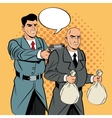 Detective and thief man cartoon design vector image