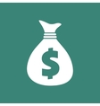 Dollar Bag Icon vector image vector image