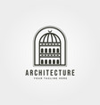 dome building architecture logo line art minimal vector image vector image
