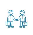 entrepreneurial activity linear icon concept vector image