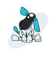 funny robot dog hand drawn image vector image
