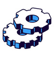 gear isometric icon mechanism element vector image
