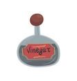 glass bottle of vinegar element for restaurant or vector image