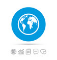 Globe sign icon world map geography symbol