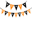 happy halloween card bunting flags pack letters vector image vector image