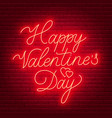 happy valentine s day neon lettering sign vector image vector image