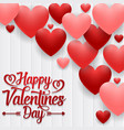 happy valentines day on wood background vector image vector image
