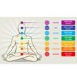Human energy chakra system ayurveda love asana vector image vector image