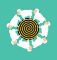 hypnotic sheep for sleep hypno farm animal vector image