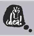 idea in a speech bubble vector image vector image