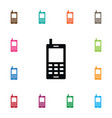 isolated smartphone icon cellphone element vector image