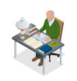 isometric old people or senior man the old man vector image