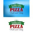 Italian pizza retro poster vector image vector image