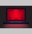 laptop in the dark vector image vector image
