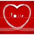 love lines vector image vector image