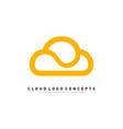 luxury cloud logo design concept cloud logo vector image vector image