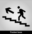 man on stairs icon on grey background vector image vector image